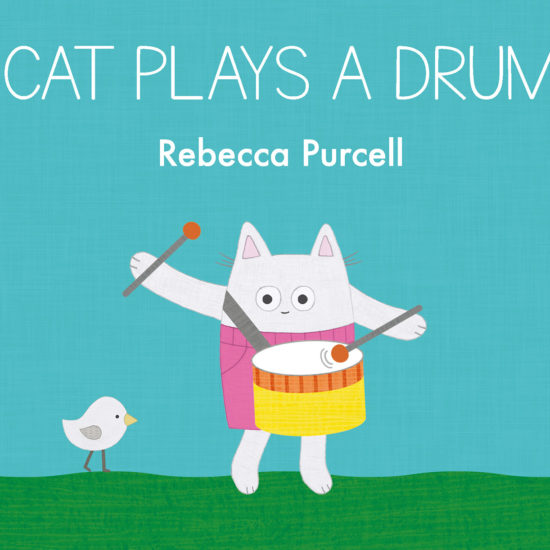 Cat Plays a Drum